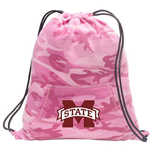 Broad Bay Cute Camo Mississippi State Drawstring Bag Hoody MSU Mississippi State Cinch Pack for Girls & Women
