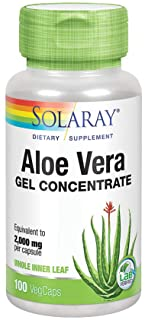 Solaray Aloe Vera Gel Concentrate | Equivalent to 2000 mg | Antioxidant Activity & Healthy Digestion & Skin Support | Non-...
