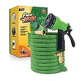 Flexihose Flexibler Gartenschlauch, Flexischlauch Gartenschlauch Schlauch Dehnbar Wasserschlauch flexibel, Gartenteichschlauch Dehnbar (75 FT, Grün)