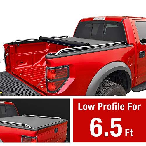 MaxMate Low Profile Soft Roll Up Truck Bed Tonneau Cover for 2005-2011 Dodge Dakota | Fleetside 6.5' Bed