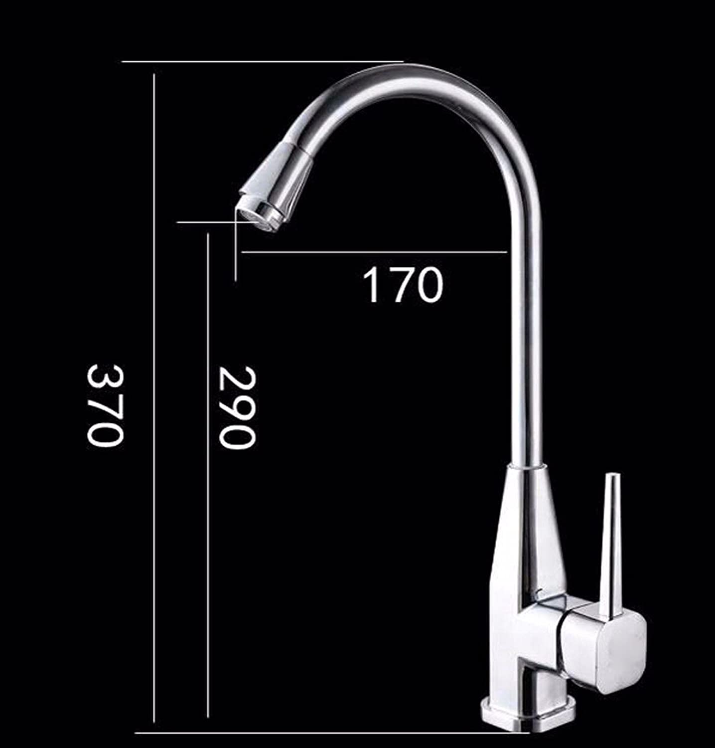 T-TSLT Copper Kitchen Faucet, Sink Faucet, hot and Cold Sink, high-Bend redatable Laundry Pool Faucet