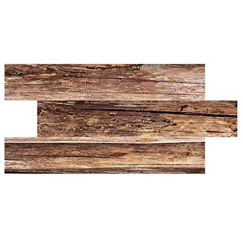 IZODEKOR Wandverkleidung Holz Styropor 2D Wandpaneele - Verblender Wanddeko Holz für Küche, Badezimmer, Balkon, Schlafzimmer, Wohnzimmer, Küchenrückwand und Teras | WD-1924