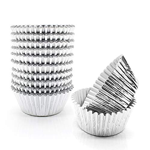 Silver Foil Cupcake LinersGOLF Standard Size Silver Foil Cupcake Liners Wrappers Metallic Baking Cups Muffin Paper Cases 500 Pack