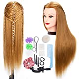 Cabeza maniquí, cabeza peluqueria Practicas Formación de la Cosmetología para trenza 100% de...