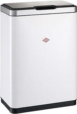 WESCO (ウェスコ) ペダル式ゴミ箱 ホワイト サイズ:27×46×H65.5cm オートペダルビン セパレート 20Lx2 382411-01