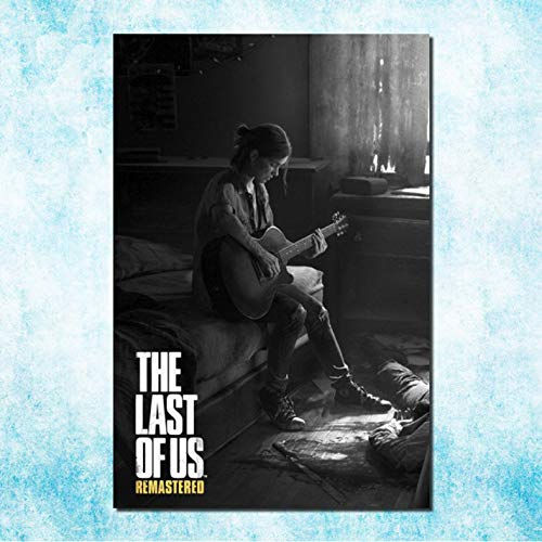 muyichen Stampa su Tela The Last of Us Art Canvas Poster Stampa Zombie Survival Horror Azione TV Gioco Pitcures per Soggiorno Decor Ra440 50X70Cm Senza Cornice