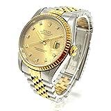 (ロレックス)ROLEX 16233G デイトジャスト オイスターパーペチュアル 10Pダイヤ 自動巻き 腕時計 K18YG / SS メンズ 中古