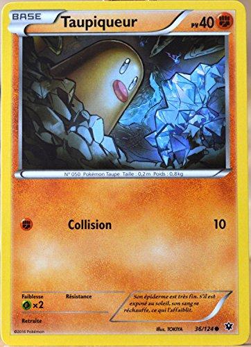 carte Pokémon 36/124 Taupiqueur 40 PV XY - Impact des Destins
