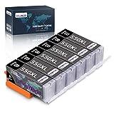 OfficeWorld Ersatz für Canon PGI-550PGBK PGI-550 Schwarz Druckerpatronen Hohe Kapazität Kompatibel für Canon Pixma MX925 iP7250 MG5550 MG5650 MX725 iX6850 MX920 MG6650 MG6450 MG5450 iP7200