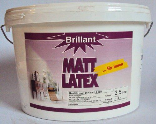 Brillant Matt Latex für Innen, Latexfarbe/ 2,5 Liter