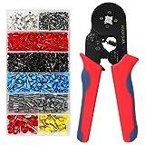 Crimpzange Aderendhülsen Set, omitium Aderendhülsenzange mit 1200 Stück, Selbsteinstellende Crimpzange, krimpzange 0,25-10mm² für isolierte und unisolierte Kabelschuhe