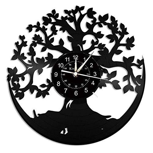 Smotly Vinilo Pared Reloj, árbol de la Vida del Reloj de Pa