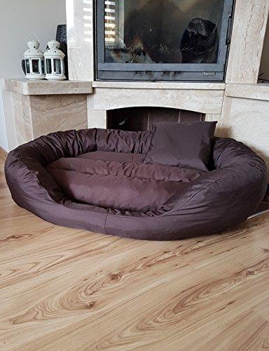 Odol-Plu hondenbed hondenkussen hondensofa hondenmand kattenbed dierbed 110 cm x 80 cm, XXL, waterdicht, bruin