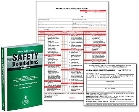 Federal Motor Carrier Safety Regulations Pocketbook Annual Vehicle Inspection Report Shrinkwrap product image