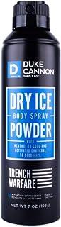 Duke Cannon Men's Trench Warfare Dry Ice Body Spray Powder, 7 ounce/No CFCs, Paraben-free