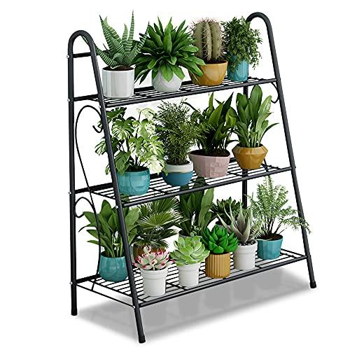 CXRYLZ-FUR Tiers - Soporte de metal para plantas en interiores, resistente mesa de banco para macetas al aire libre, estantería de invernadero para macetas de jardín, hierbas, flores, Etagere