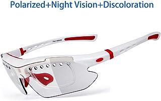 84c1545ea9 Gafas Polarizadas Deporte Bici Anti UV400 Gafas para Correr Running  Antivaho con 3 Lentes Intercambiables Adaptadas