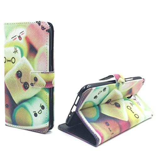 König Design Handyhülle Kompatibel mit Lenovo ZUK Z1 Handytasche Schutzhülle Tasche Flip Hülle mit Kreditkartenfächern - Marshmallows