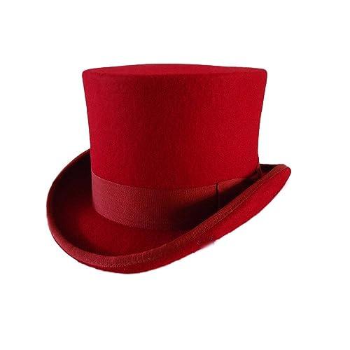 862b17a833ac0 Ztl Unisex Wool Felt Top Hat Victorian Style Hatter Top Hat Vivi Magic Hat  Performing Cap