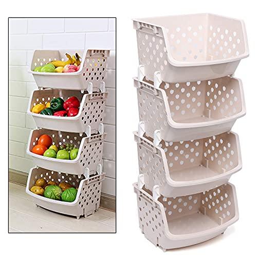 STOCKAGE BurcLing 4 Grid Cuisine Cuisine Fruit Rack Basket Board Board Board Organisateur Organisateur Can Food Snacks Cuisine Cuisine Cuisine de l estomac