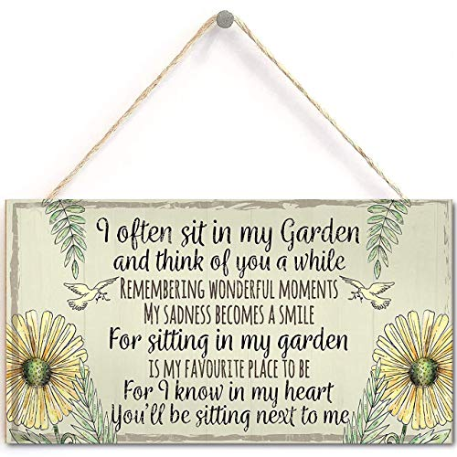 Lalagofe Garden Plaque Summer House Sign Garden Shed Friendship Mum Nan Memorial Gift