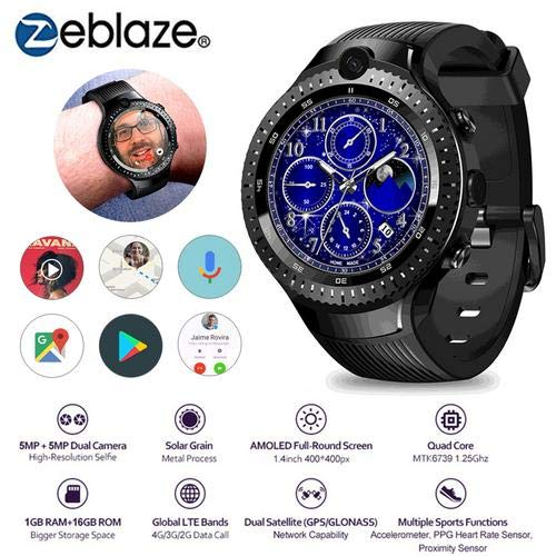 mollylover Zeblaze Thor 4 Dual Smart Watch, 4G GPS WiFi Android Smart Watch Kamera 1 + 16G Speicher 530 mAh Akku-Armbanduhr