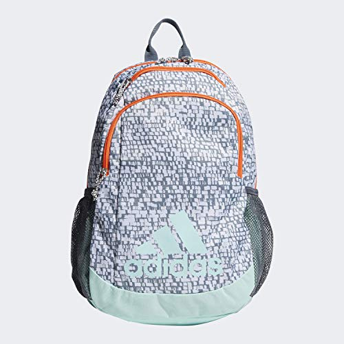 adidas Youth Kids-Boy's/Girl's Young Creator Backpack, White Dapple/Clear Mint/Hi - Res Coral/Onix, 0