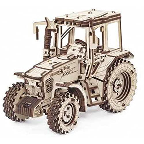 EWA Eco-Wood-Art - 3D-Holzpuzzle für Jugendliche und Erwachsene - Traktor BELARUS-82 - DIY-Bausatz, Selbstmontage, kein Kleber erforderlich - 269 Stück