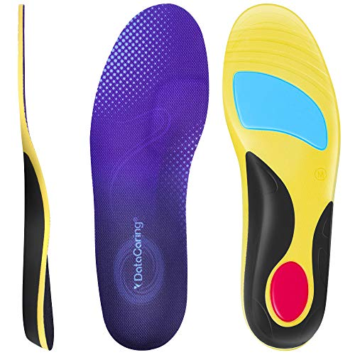 Insoles for Men Work Boots,Shoe Inserts Women Replacement,Low Arch Support,Relieve Plantar Fasciitis Heel Pain,Athletic Insoles Gel Pad Has Good Shock Absorption,Size of Women 6-8,Men 7-9