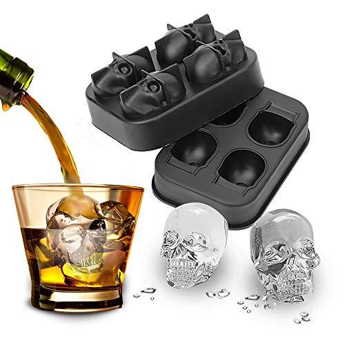 YOUG Silikonform Schokoladenform Kreative Eiswürfelform Whiskey Wein Cocktail Eiswürfel DIY Werkzeug Totenkopf Form Eiswürfel Maker