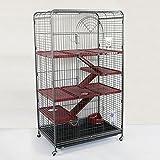 Wagner Cages ®   Käfig Nagerheim Kaninchen Meerschweinchen Ohlsbach antik/Bordeaux