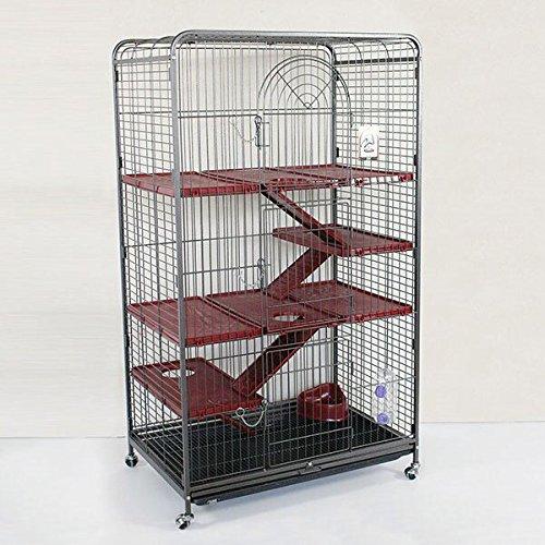 Wagner Cages ® | Käfig Nagerheim Kaninchen Meerschweinchen Ohlsbach antik/Bordeaux