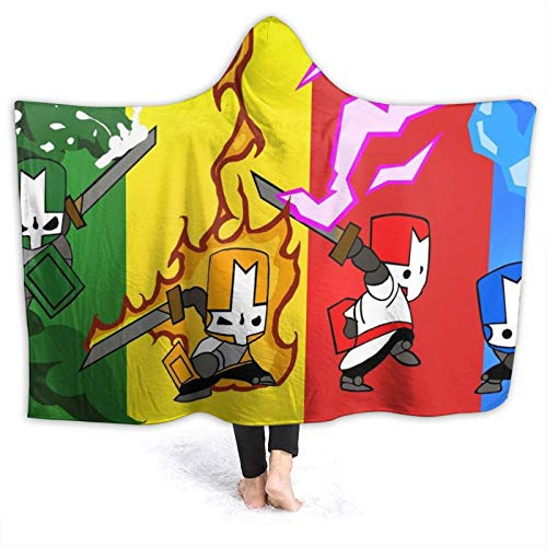 Fire-Castle-Crashers Hooded Blanket Super Soft Anti-Pilling Flannel Wearable Hoodie Blanket for Kids Adults Teens 60'X50'