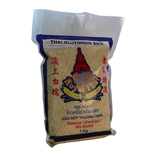 Royal Thai - Klebreis Sticky Rice - 3er Pack (3 x 1kg) - Original Thai