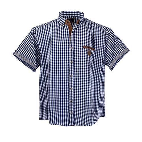 1129Blue White- Brown pour homme Chemise manches courtes grande taille Lavecchia Taille 3 - 7XL - multicolore - XXXX-Large