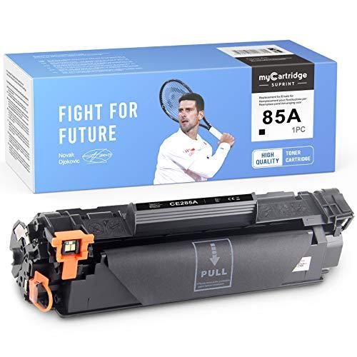 myCartridge SUPRINT Tóner compatible 85A CE285A negro de repuesto para HP 85A CE285A para HP Laserjet Pro P1102 P1102W M1212NF M1214NFH MFP M1217NFW M1132 M1210 M1130 (negro)