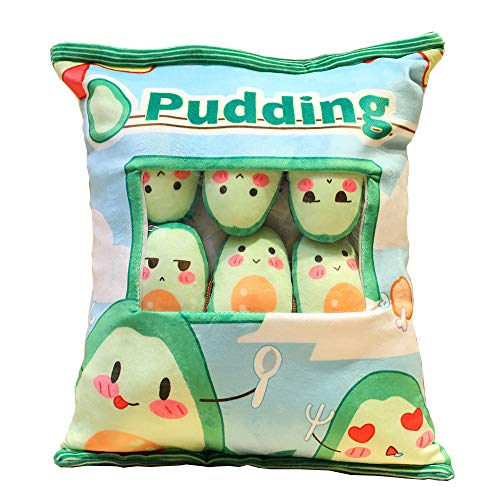 JUJUCAT 1 Bag Cute Snack Pillow Kawaii Snacks Dolls Pillow Cute Pudding Decorative Stuffed Animal Toy Gifts For Kids Girlfriend Birthday Valentine(large size 60*40cm)