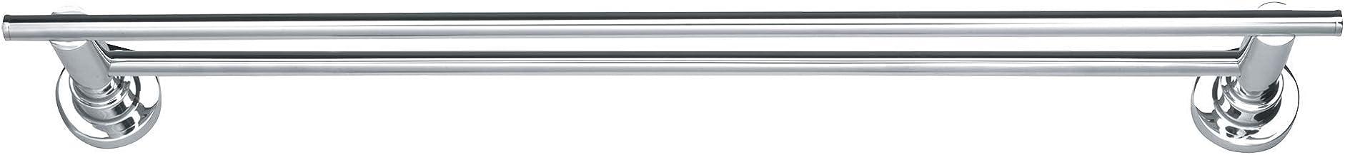 tesa Luup dubbele handdoekhouder, verchroomd metaal, zelfklevend, 50 mm x 600 mm x 120 mm