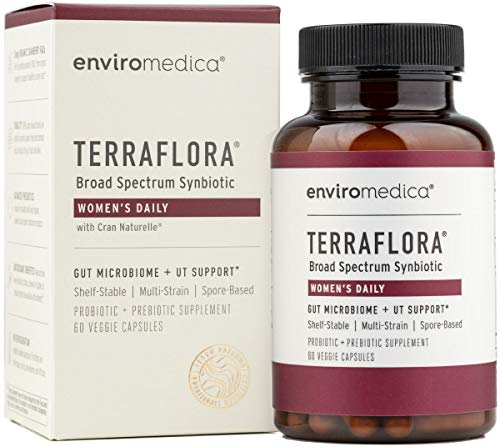 Enviromedica Terraflora Women's Daily SBO Probiotic + Prebiotic Supplement - a Soil Based Bacillus Spore Form Synbiotic with Organic Cranberry to Support and a Healthy Urinary Tract (60ct)