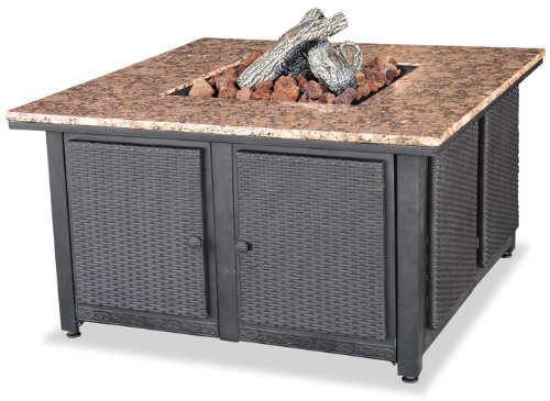 Endless Summer, GAD1200B, LP Gas Outdoor Firebowl with Granite Mantel