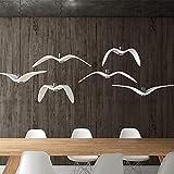 Pendant Light Chandelier Lamp LED6 Head Seagull Wind Chime Shape Black Ceiling Lamp Adjustable Hanging Line Restaurant Clothing Store Bedroom Bird Light Lamps.