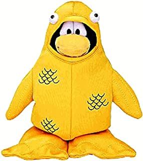Disney Club Penguin Series 4 Gold Fish Costume 6-1/2 Inch Scale Plush Toy with Online Code