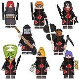\t Naruto Figura 8 Piezas Muñecos y Figuras de Acción Uchiha Itachi Konan Tobi Yahiko Nagato Zetsu B...