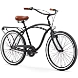 sixthreezero Around The Block Men's 3-Speed Beach Cruiser Bicycle, 26' Wheels, Matte Black with...