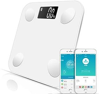 LQZZH Grasa Corporal Inteligente Básculas de baño Digitales con Bluetooth Tipo de Cuerpo Medida Peso Equilibrio de la Salud Grasa Músculo Muscular Masa Bmi @ White