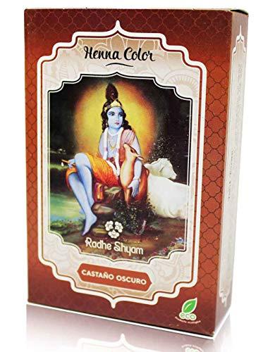 Radhe Shyam Henna Castaño Oscuro Polvo RAD