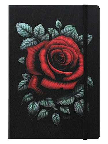 Requiem Collective A5 Notizbuch Hardcover Cardinal Rose 14 x 21 cm schwarz