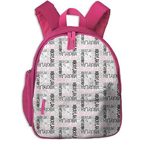 Kinderrucksack mädchen,Personifizierter Namensentwurf - Spirale mit Pic_5170 - spunkymonkees, für Kinderschulen Oxfordstoff (rosa)