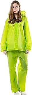 KARRESLY Motorcycle Ultra-Lite Rain Suit Waterproof Hooded Rainwear Jacket & Trouser Suit for Unisex Adult