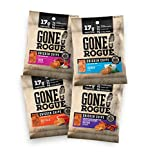 Gone Rogue High Protein Chips, Low Carb, Gluten Free, Keto Friendly Snacks - Variety Pack, 4 pack, 4 Flavors: Ranch Style Chicken, Taco Style Chicken, Chicken Bacon & Buffalo Style Chicken by Gone Rogue